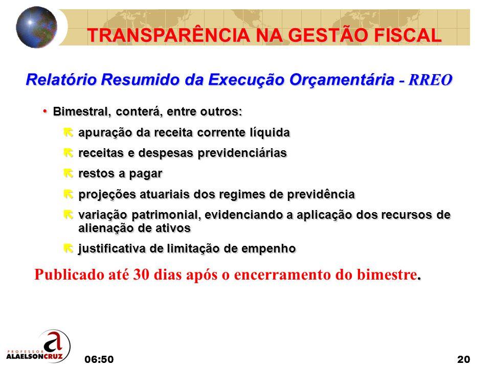 TRANSPARÊNCIA NA GESTÃO FISCAL