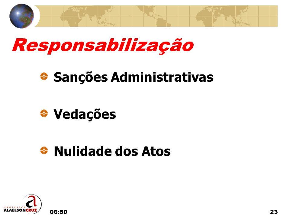 Responsabilização Sanções Administrativas Vedações Nulidade dos Atos