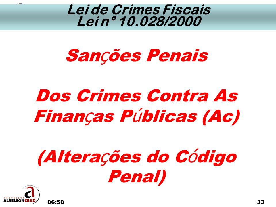 Dos Crimes Contra As Finanças Públicas (Ac)