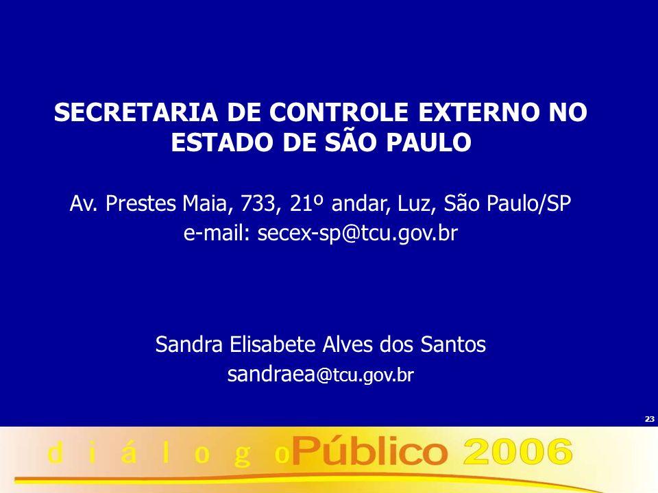 SECRETARIA DE CONTROLE EXTERNO NO ESTADO DE SÃO PAULO