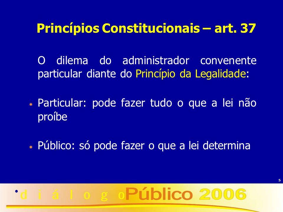 Princípios Constitucionais – art. 37