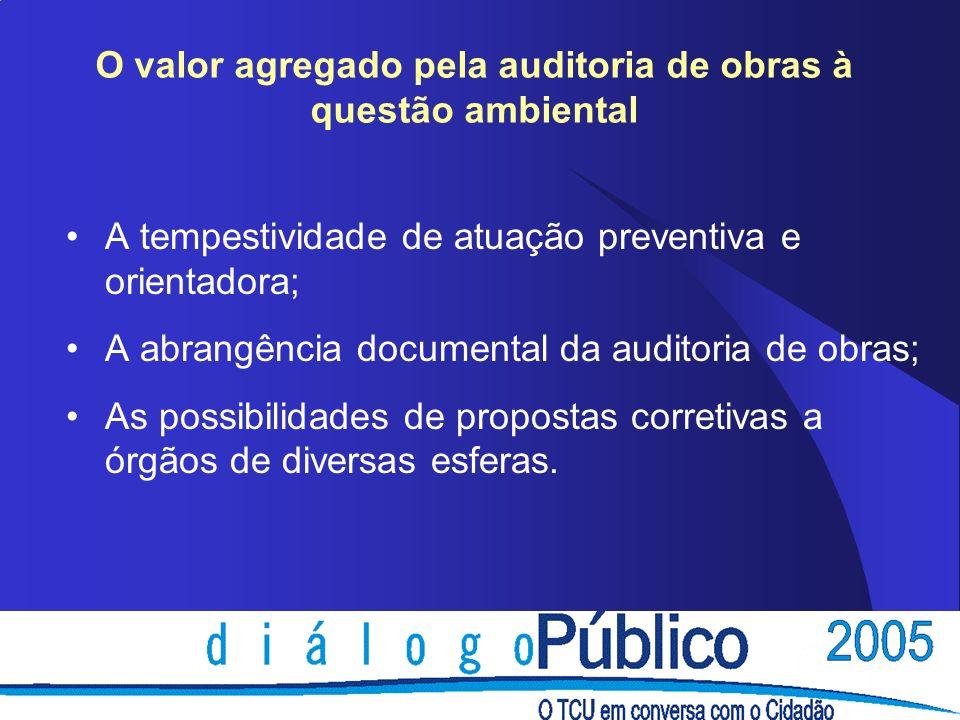 O valor agregado pela auditoria de obras à questão ambiental