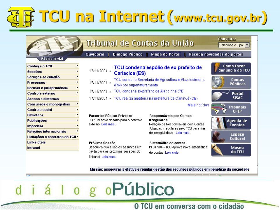 TCU na Internet (www.tcu.gov.br)