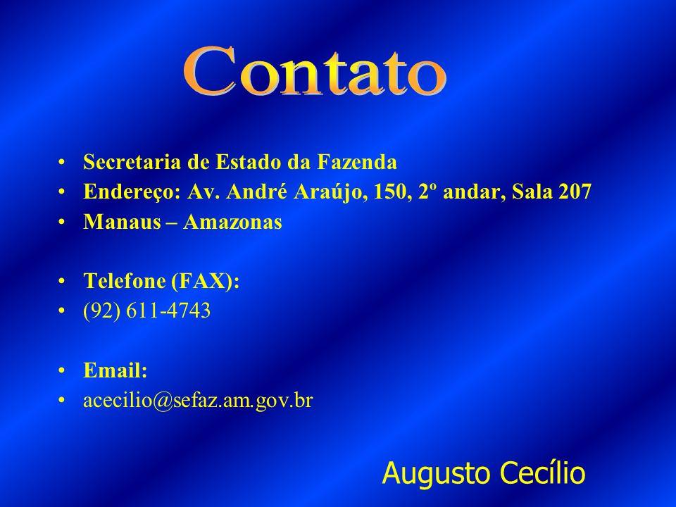 Augusto Cecílio Contato Secretaria de Estado da Fazenda