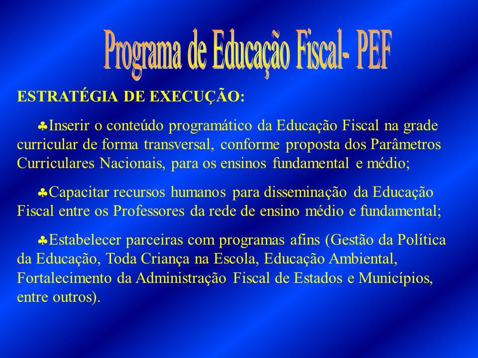 Programa de Educação Fiscal- PEF
