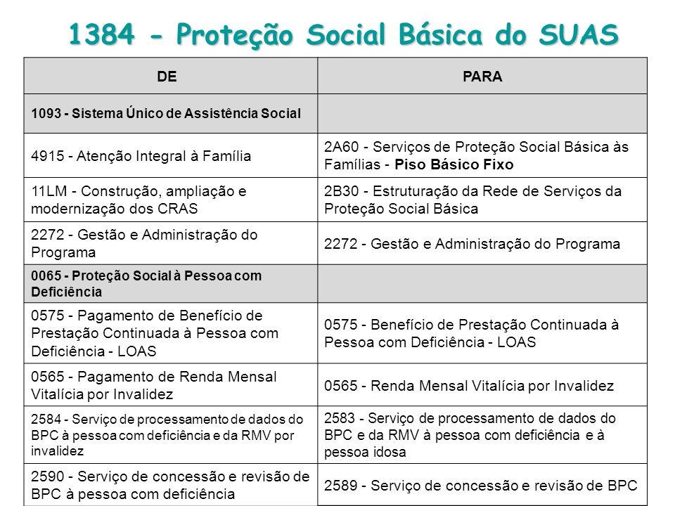 1384 - Proteção Social Básica do SUAS