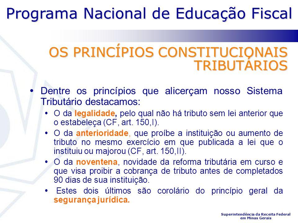OS PRINCÍPIOS CONSTITUCIONAIS TRIBUTÁRIOS