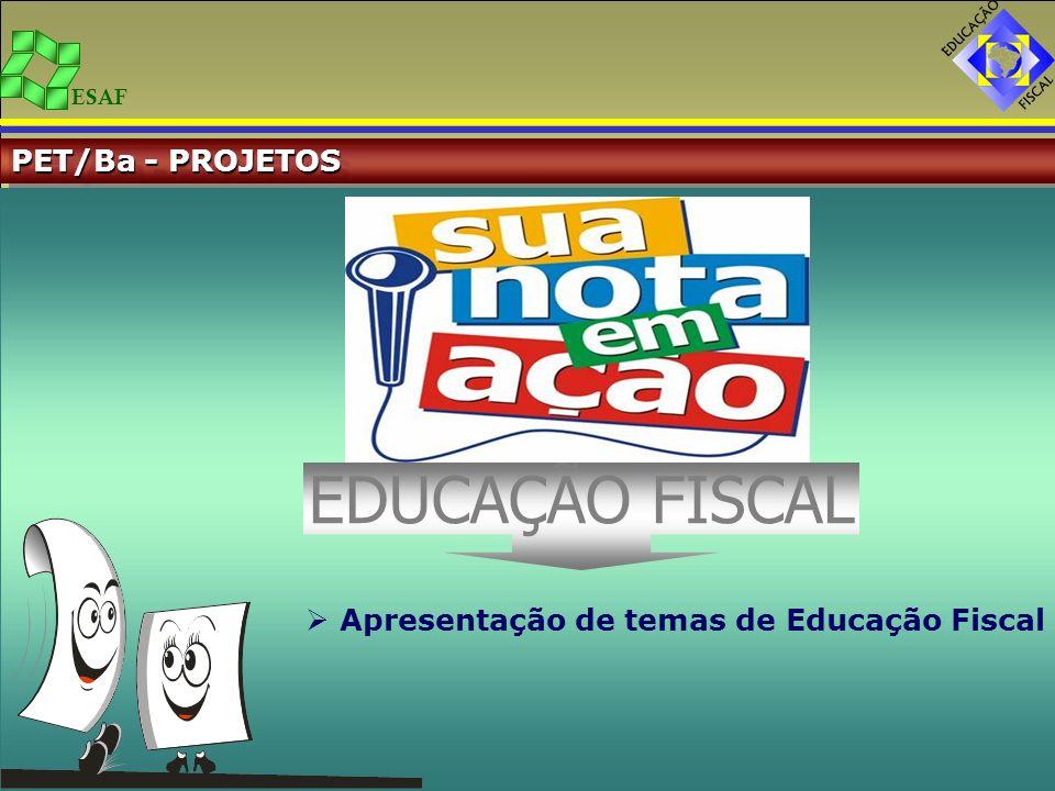 EDUCAÇÃO FISCAL PET/Ba - PROJETOS