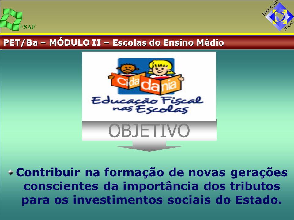 PET/Ba – MÓDULO II – Escolas do Ensino Médio