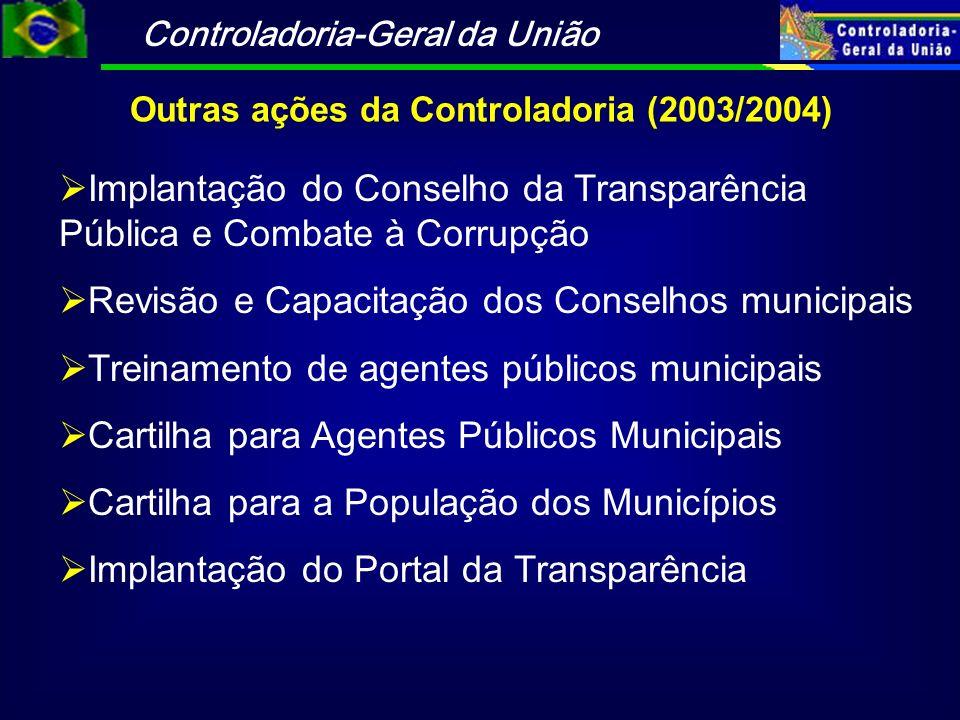 Outras ações da Controladoria (2003/2004)