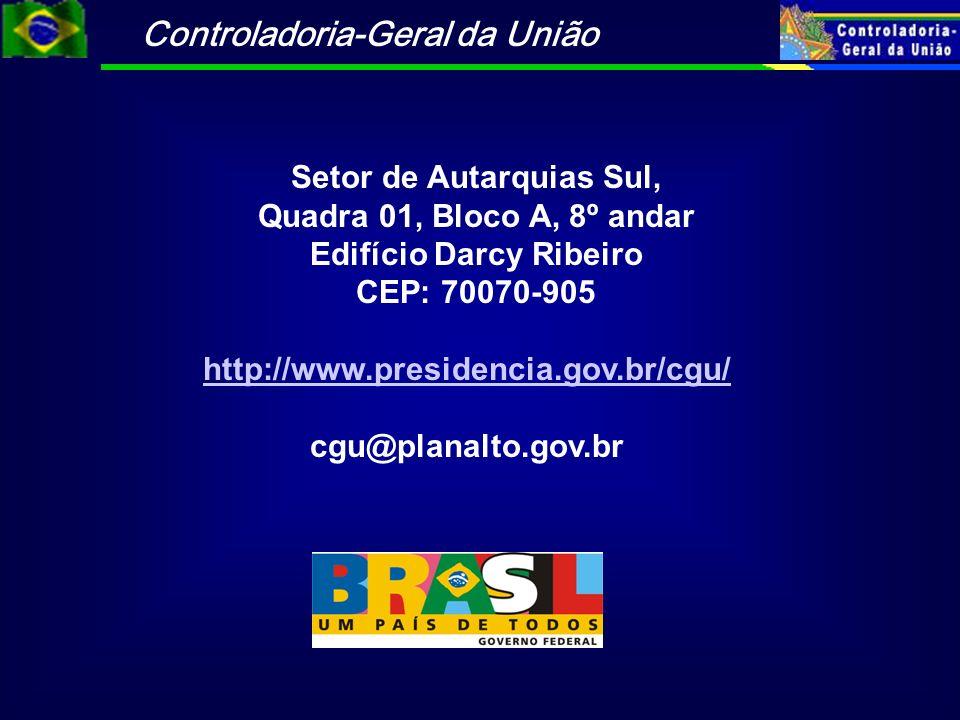 Setor de Autarquias Sul, Quadra 01, Bloco A, 8º andar Edifício Darcy Ribeiro CEP: 70070-905