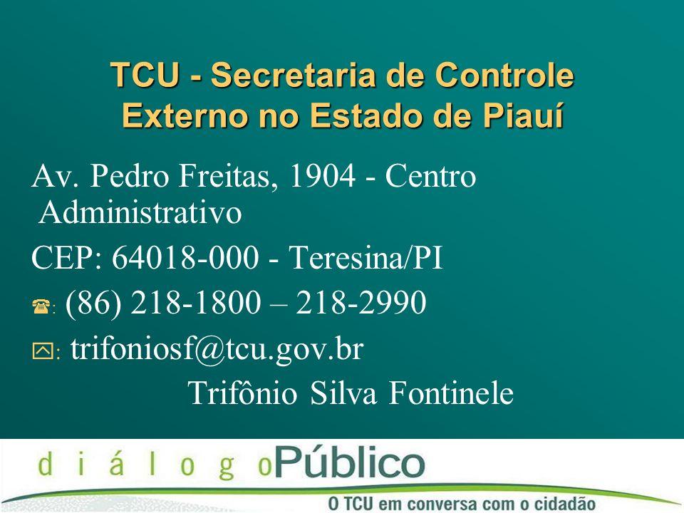 TCU - Secretaria de Controle Externo no Estado de Piauí