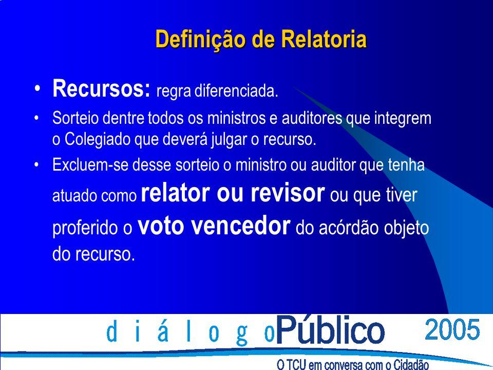 Definição de Relatoria