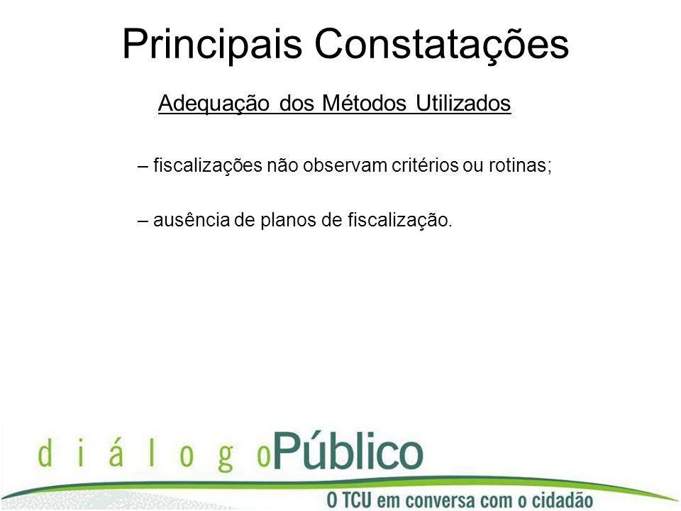 Principais Constatações