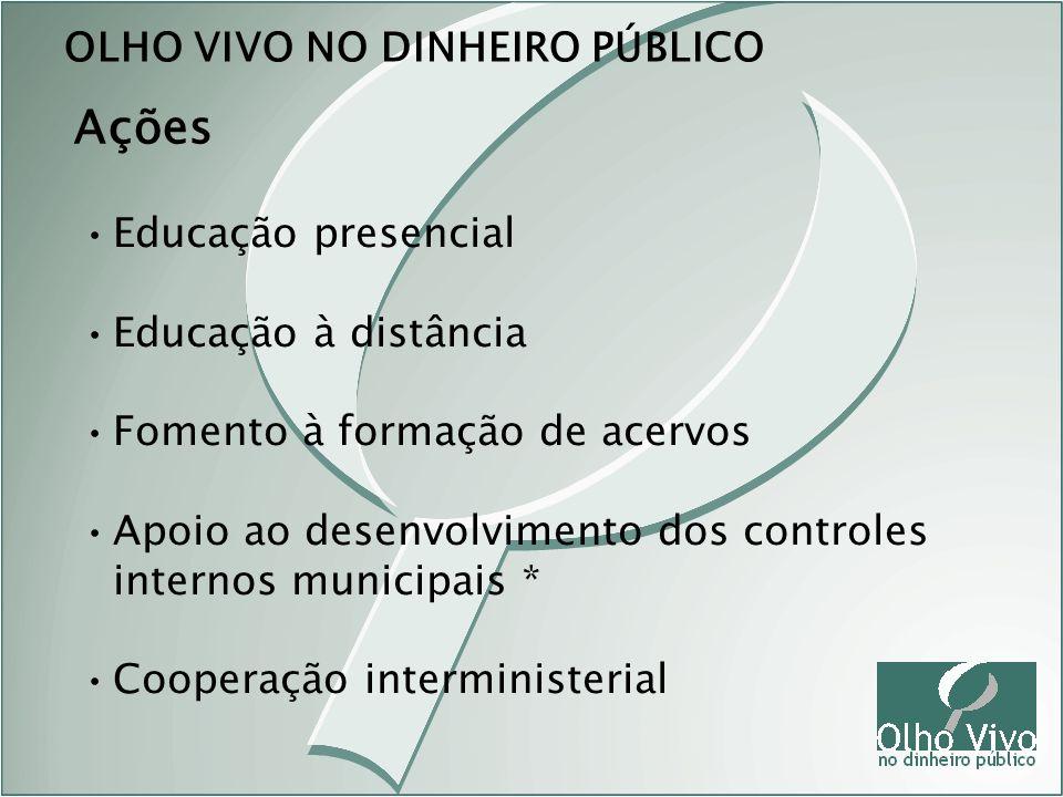 Ações OLHO VIVO NO DINHEIRO PÚBLICO Educação presencial