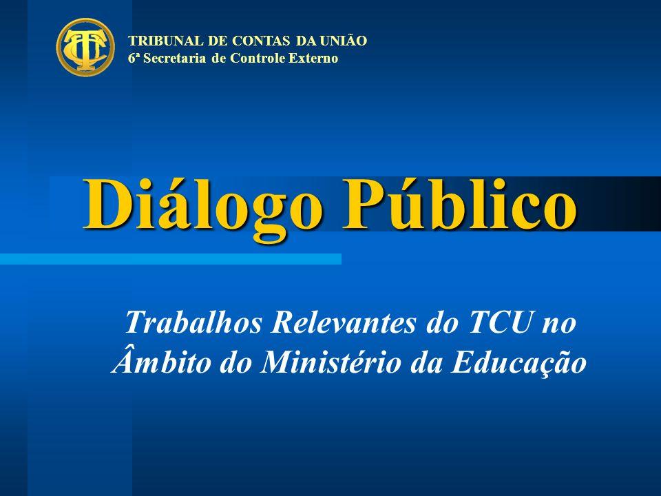 Trabalhos Relevantes do TCU no Âmbito do Ministério da Educação