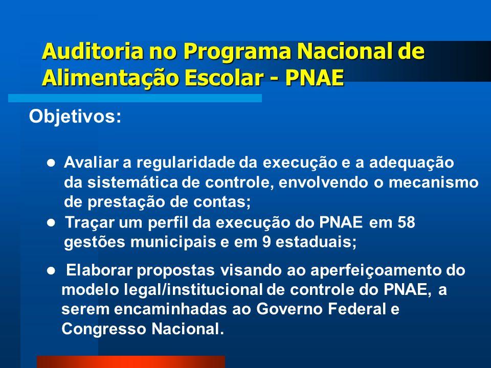 Auditoria no Programa Nacional de Alimentação Escolar - PNAE
