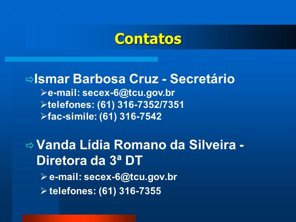 Contatos Ismar Barbosa Cruz - Secretário