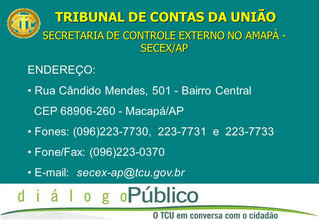 SECRETARIA DE CONTROLE EXTERNO NO AMAPÁ - SECEX/AP