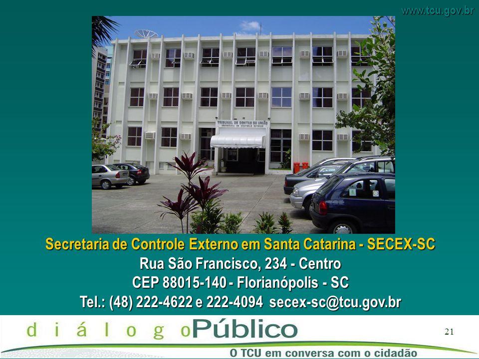 Secretaria de Controle Externo em Santa Catarina - SECEX-SC
