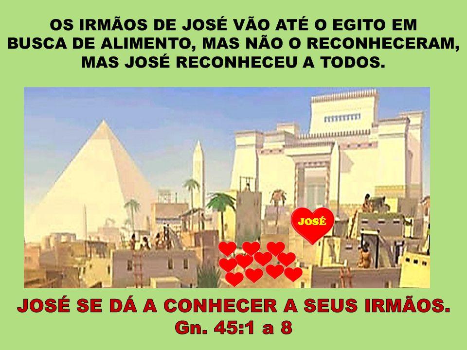 JOSÉ SE DÁ A CONHECER A SEUS IRMÃOS. Gn. 45:1 a 8