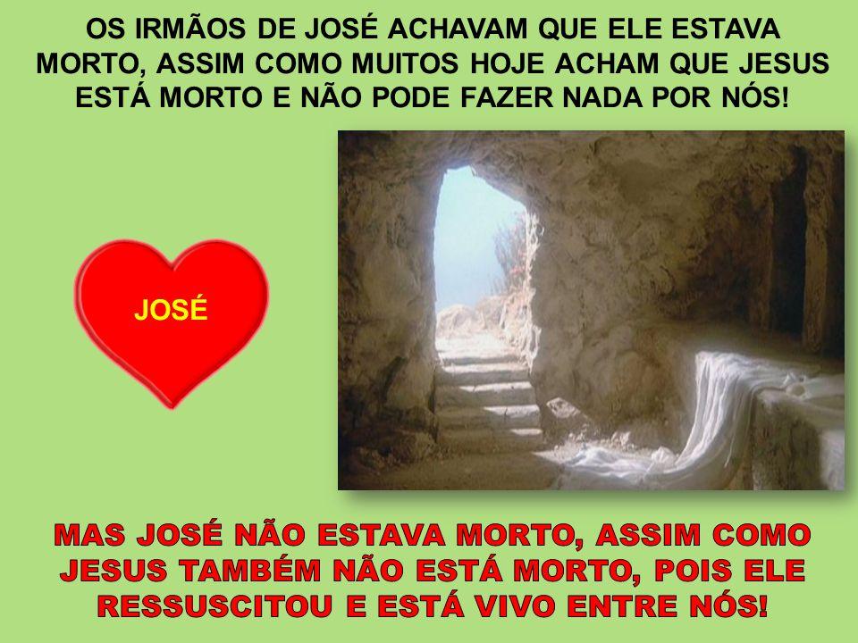 OS IRMÃOS DE JOSÉ ACHAVAM QUE ELE ESTAVA
