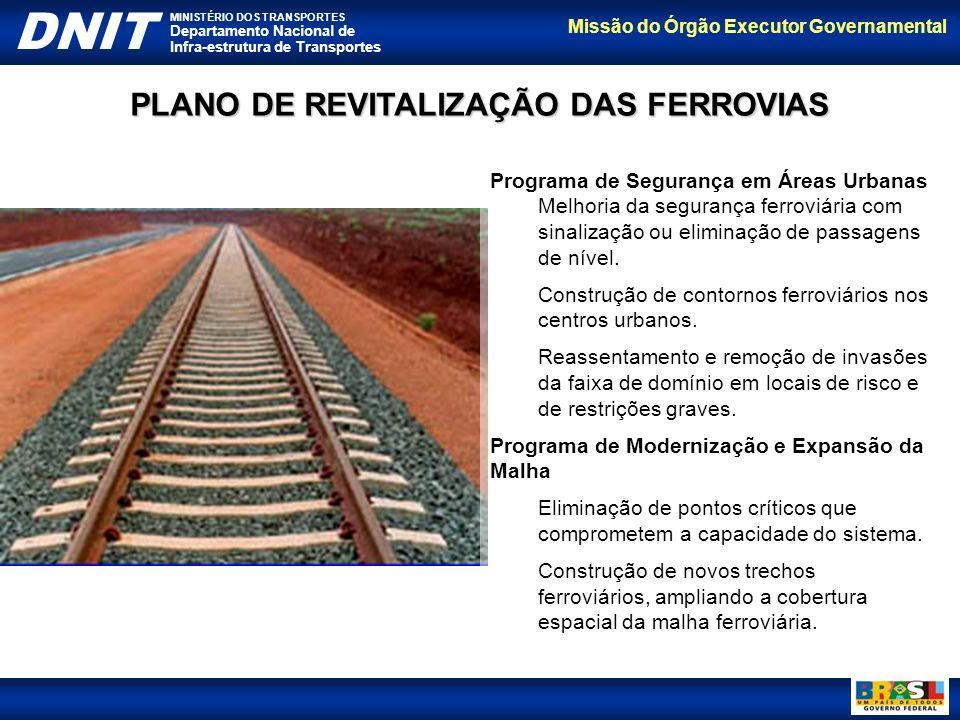 PLANO DE REVITALIZAÇÃO DAS FERROVIAS