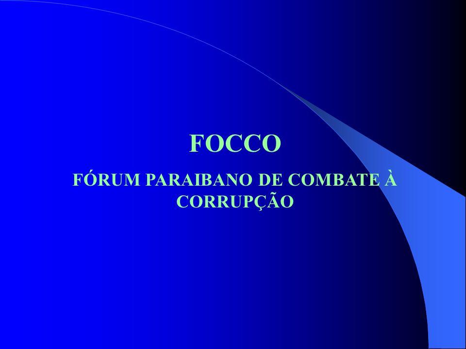 FÓRUM PARAIBANO DE COMBATE À CORRUPÇÃO