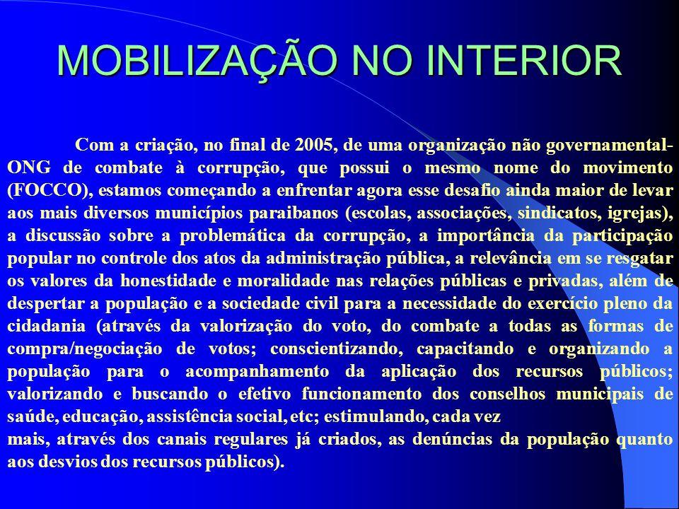 MOBILIZAÇÃO NO INTERIOR