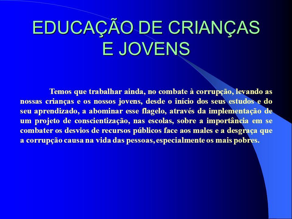 EDUCAÇÃO DE CRIANÇAS E JOVENS