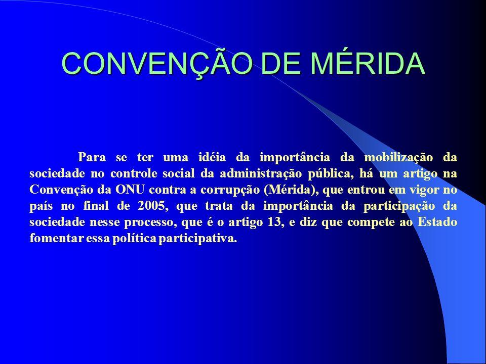 CONVENÇÃO DE MÉRIDA