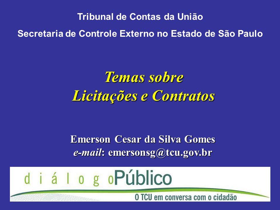 Temas sobre Licitações e Contratos