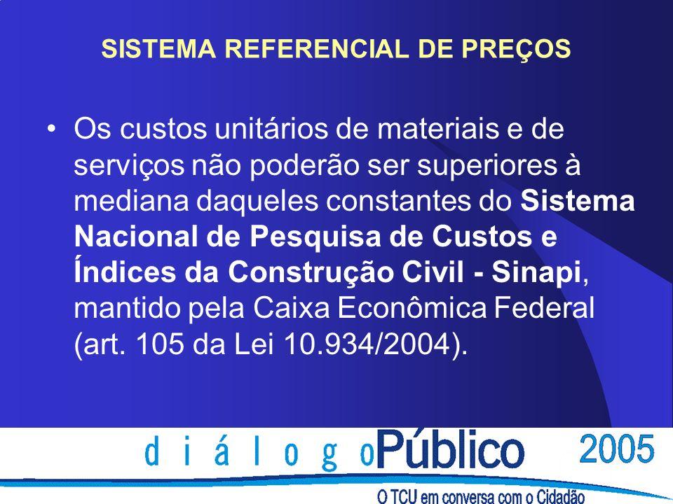 SISTEMA REFERENCIAL DE PREÇOS