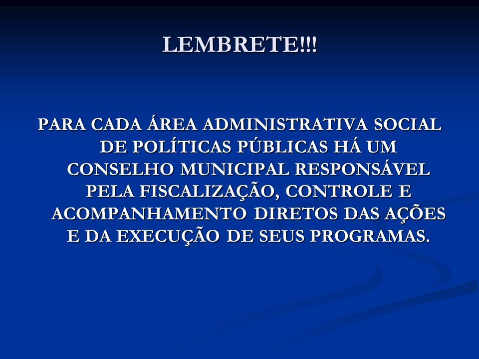 LEMBRETE!!!