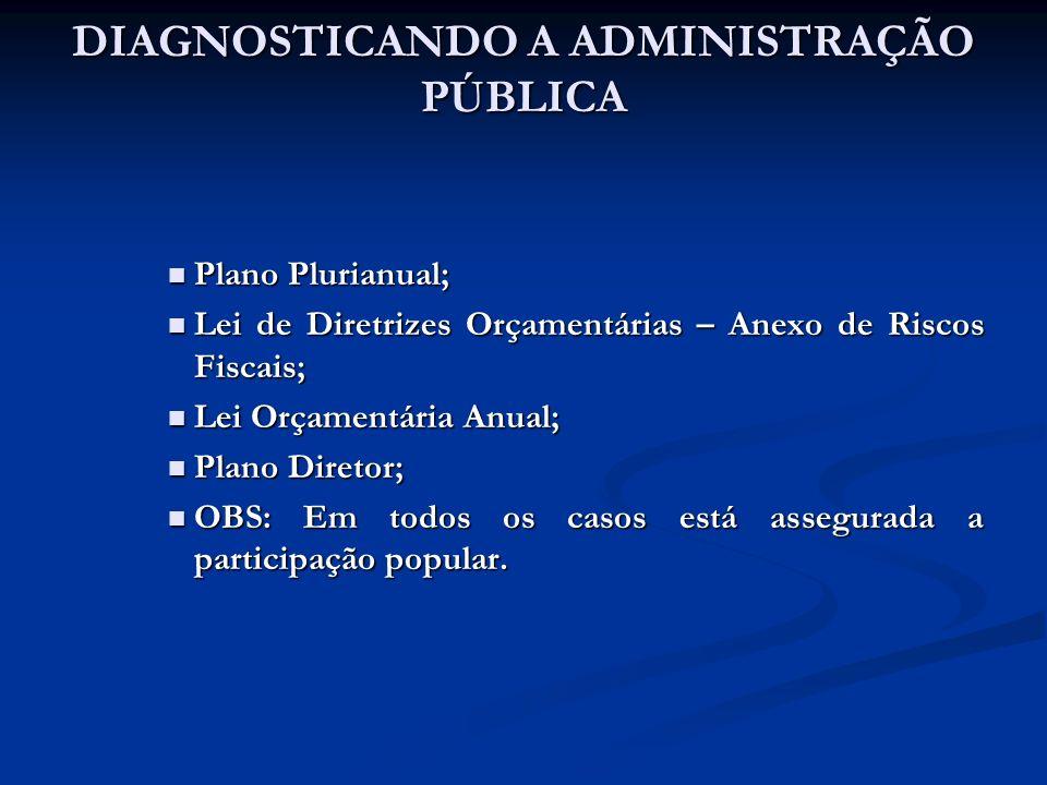 DIAGNOSTICANDO A ADMINISTRAÇÃO PÚBLICA