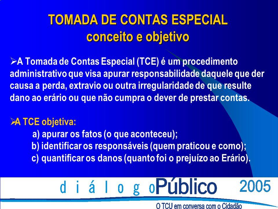 TOMADA DE CONTAS ESPECIAL conceito e objetivo