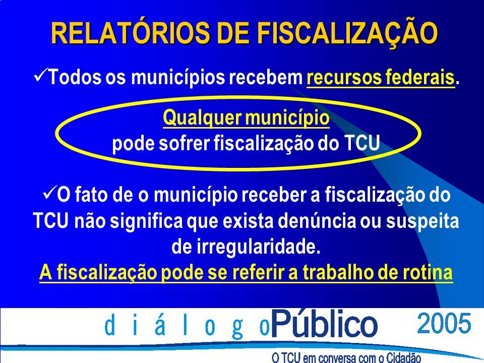 RELATÓRIOS DE FISCALIZAÇÃO