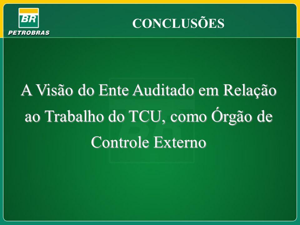 CONCLUSÕES A Visão do Ente Auditado em Relação ao Trabalho do TCU, como Órgão de Controle Externo