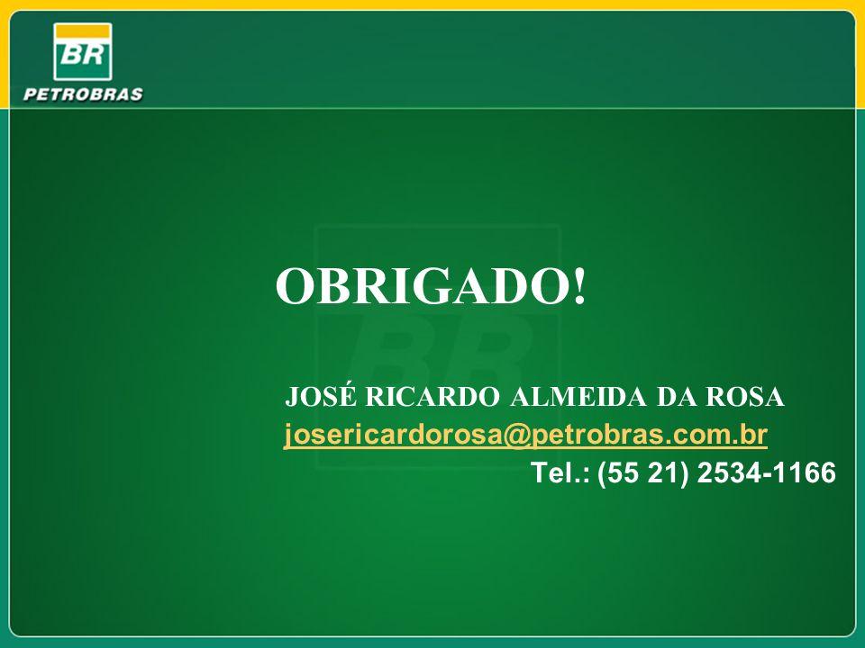 OBRIGADO! Tel.: (55 21) 2534-1166 JOSÉ RICARDO ALMEIDA DA ROSA