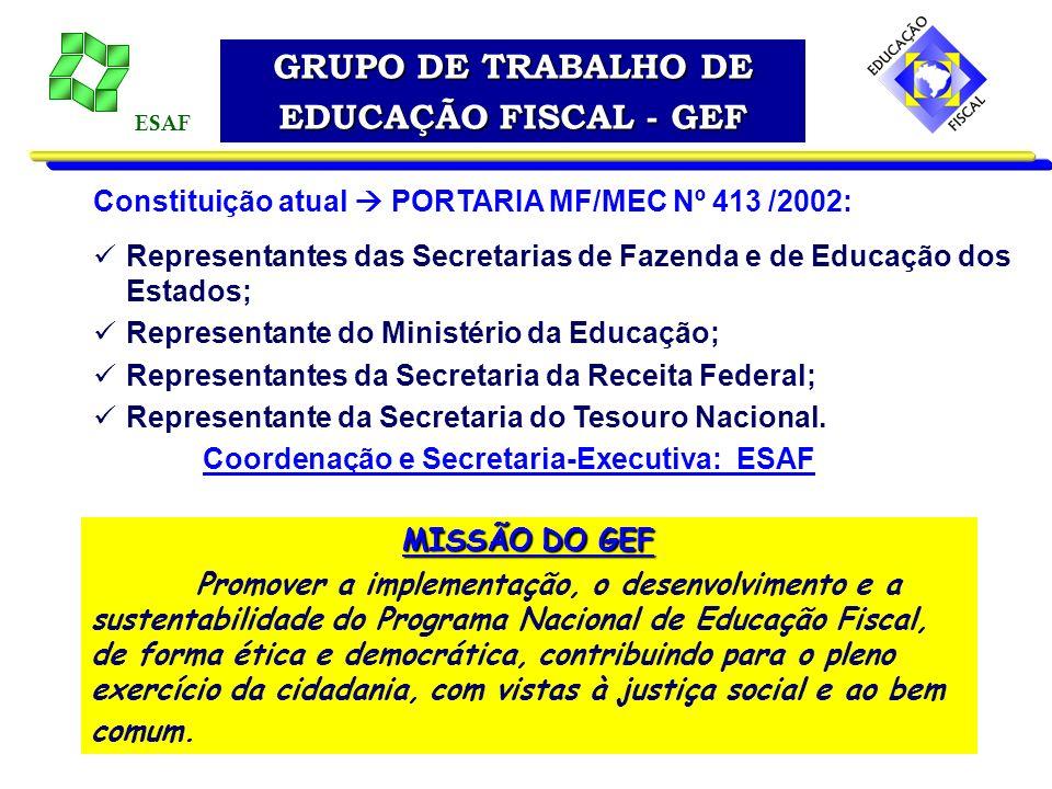 GRUPO DE TRABALHO DE EDUCAÇÃO FISCAL - GEF
