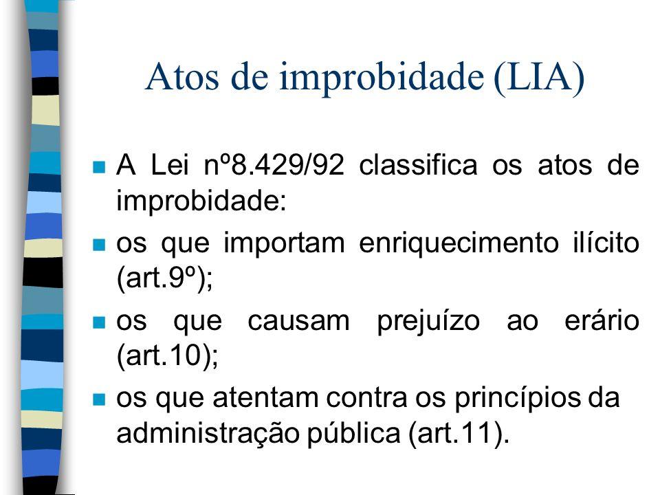 Atos de improbidade (LIA)