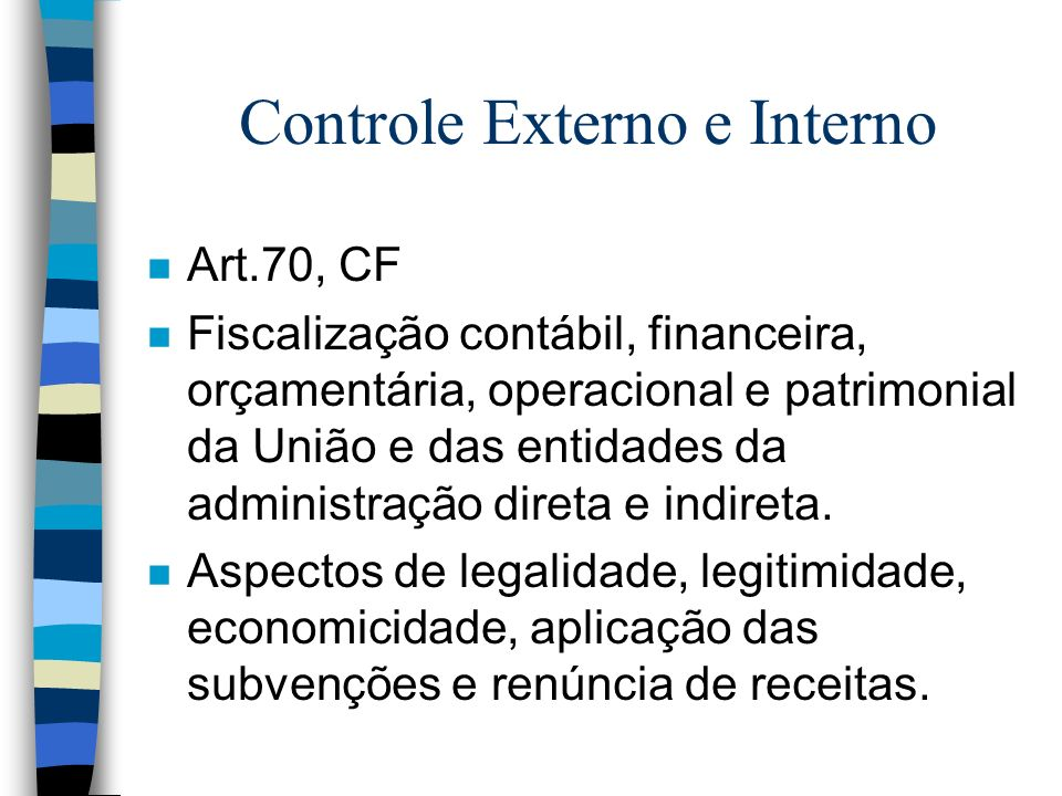 Controle Externo e Interno