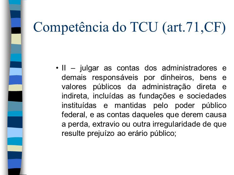 Competência do TCU (art.71,CF)