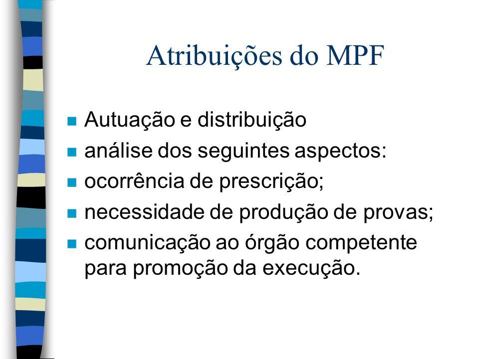 Atribuições do MPF Autuação e distribuição