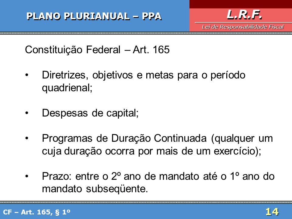 Constituição Federal – Art. 165
