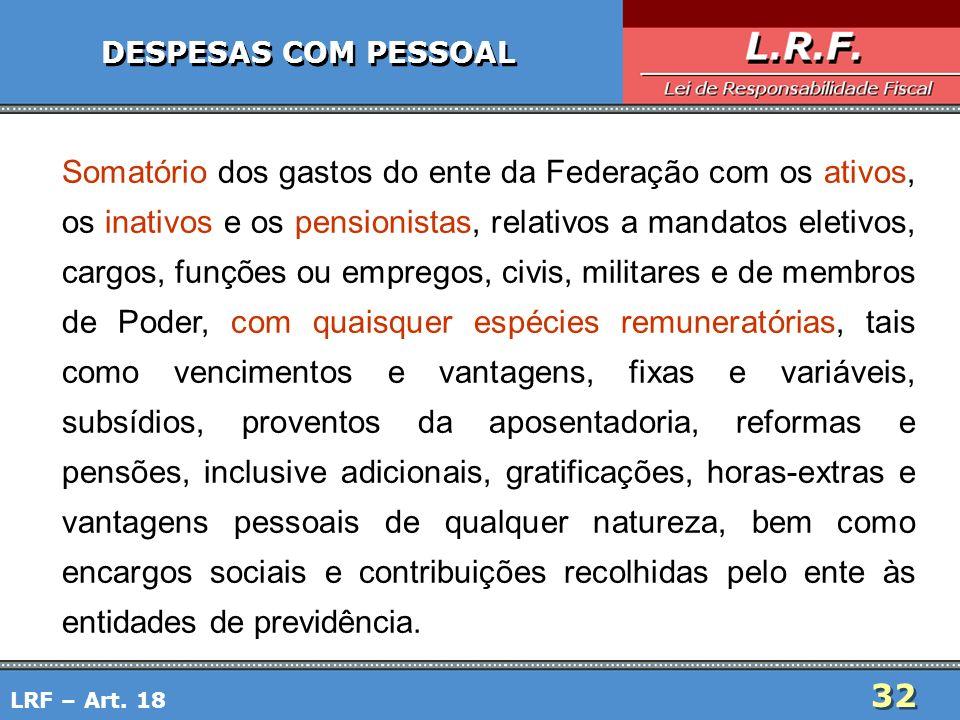 DESPESAS COM PESSOAL