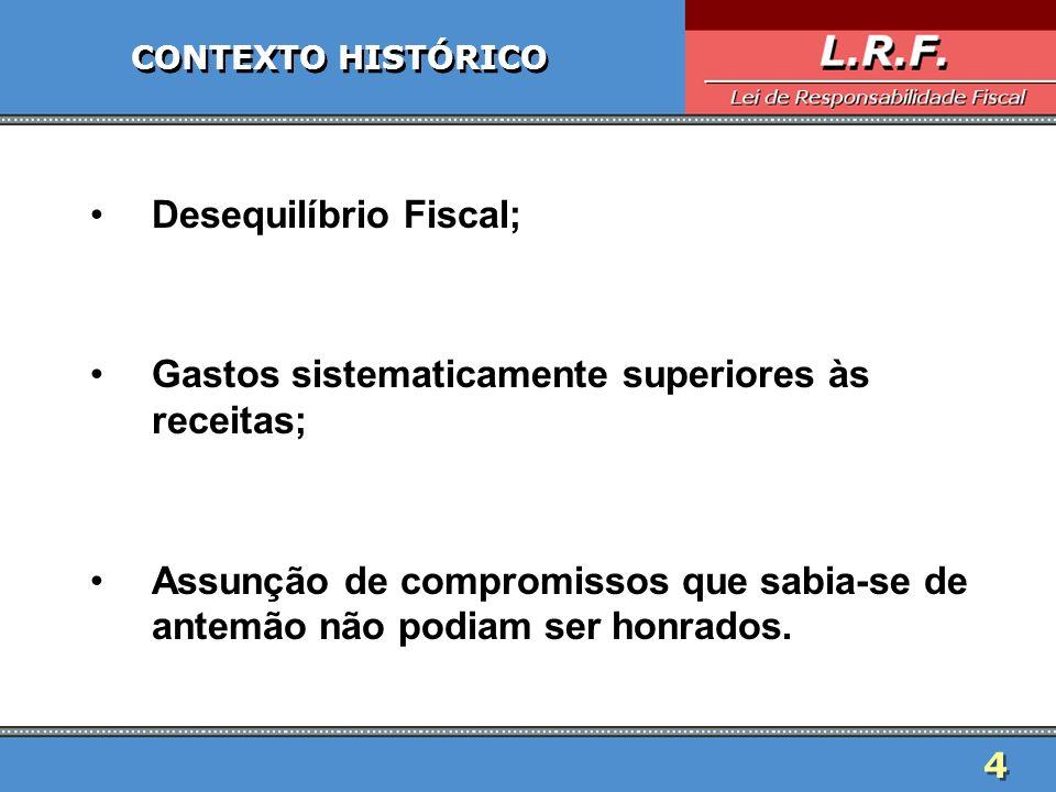 Desequilíbrio Fiscal;