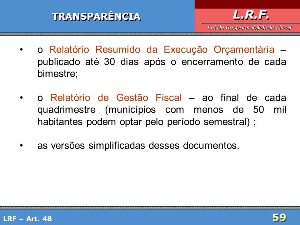 as versões simplificadas desses documentos.