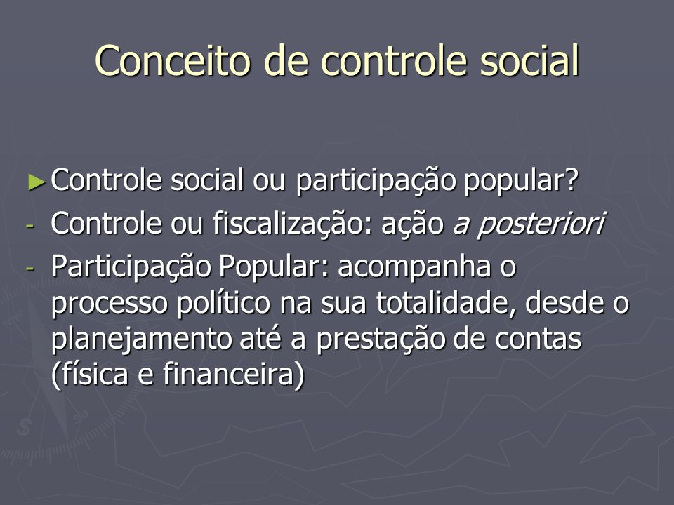 Conceito de controle social
