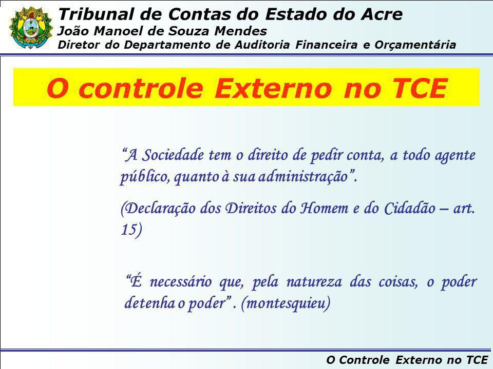 O controle Externo no TCE